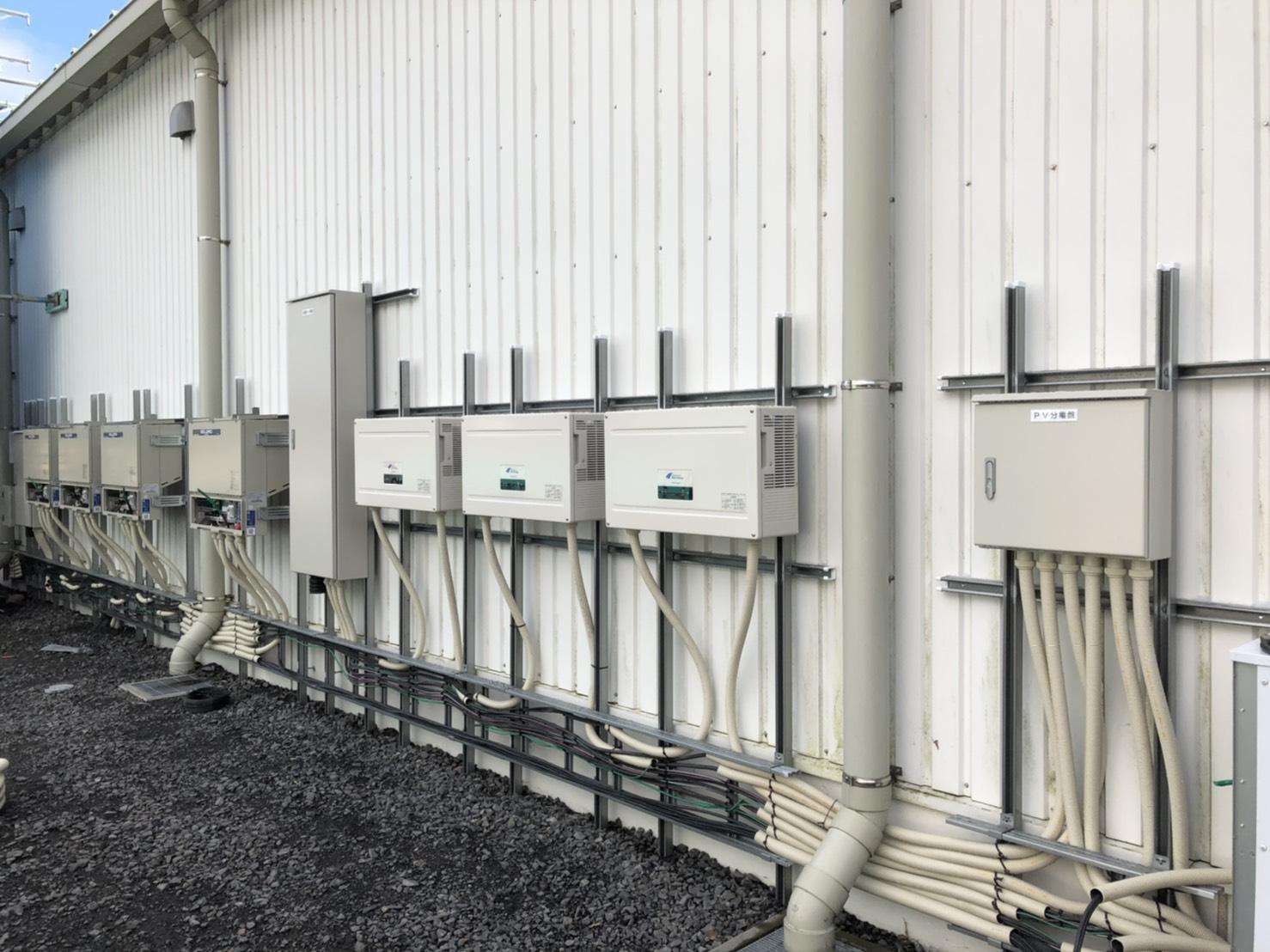 茨城県小美玉市自家消費太陽光発電67kw完工